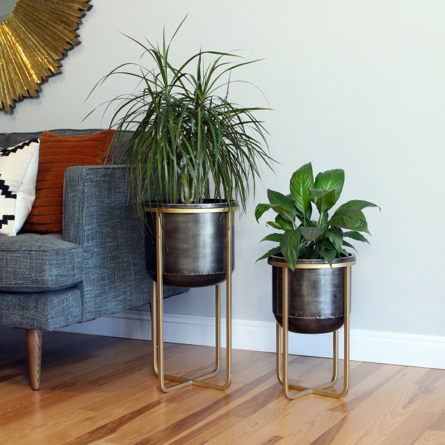 Rizzy Midcentury 2 Piece Planter Set