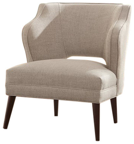 Superieur Cody Open Back Accent Chair, Natural