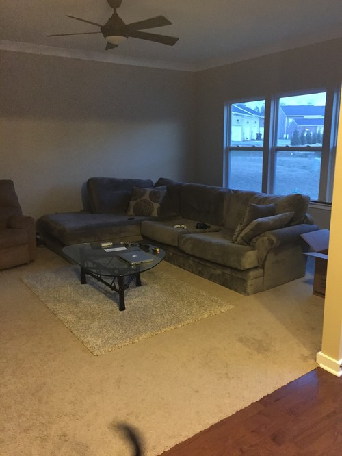 Help with odd living room layout no focal point too open for Room layout help