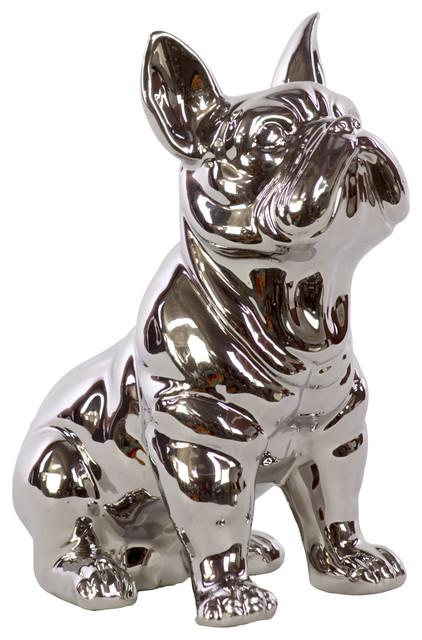 Best Ceramic Sitting French Bulldog Figurine - Contemporary  BO68