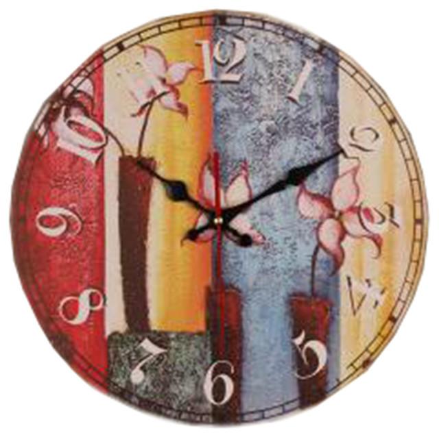 European Rural Pastoral Retro Wall Clock Decoration Non Ticking 23 Contemporary Wall Clocks By Blancho Bedding