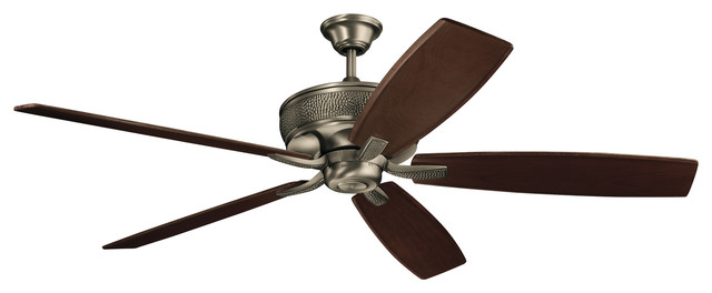 "70"" Monarch Fan Burnished Antique Pewter Monarch."