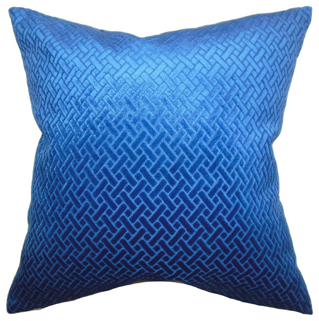 The Pillow Collection Brielle Solid Bedding Sham Blue