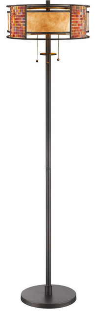 Parkwood 3-Light Floor Lamps, Bronze.
