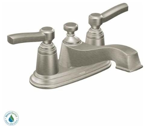 Shop Houzz Moen Moen S6201 Rothbury 2 Handle Centerset Bathroom Faucet Ba