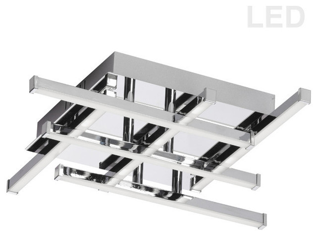 Summit 15.5 16.2w 6 Led Flush Mount, Polished Chrome.