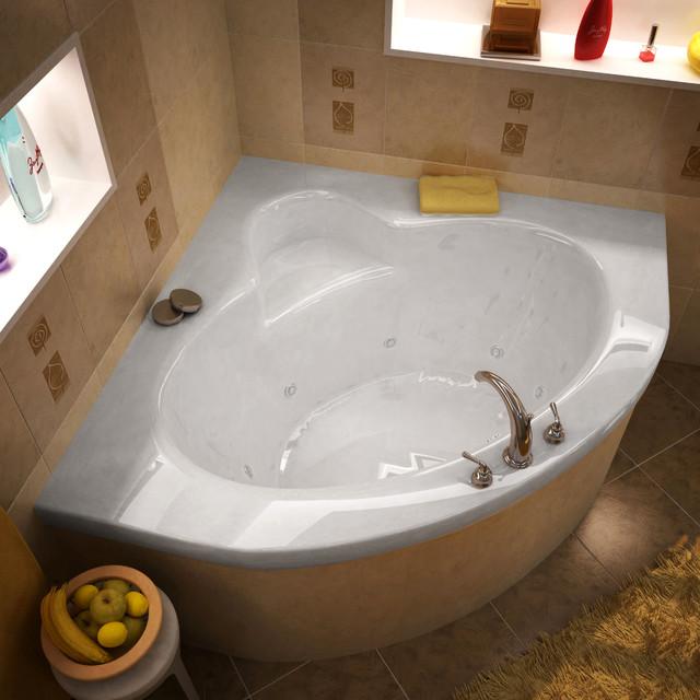 Venzi Esta X Corner Whirlpool Jetted Bathtub Bathtubs By - Corner tub with jets