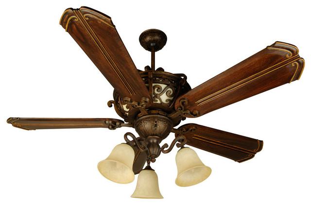 Toscana 4-Light Indoor Ceiling Fan, Peruvian Bronze.