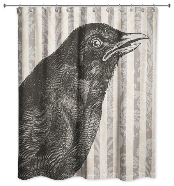 Spooky Crow 71x74 Shower Curtain