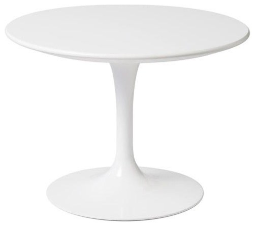 Knoll Kids Round Tulip Side Table, White