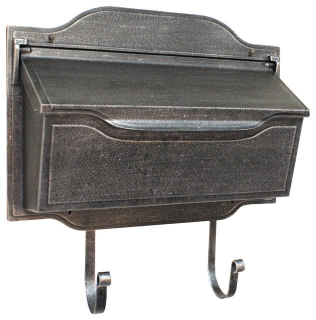 Contemporary Horizontal Mailbox, Swedish Silver