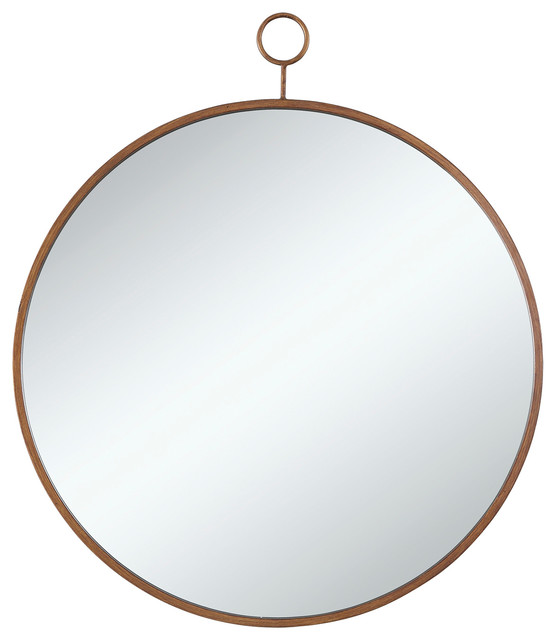 Contemporary Wall Mirror coaster mirror, gold - contemporary - wall mirrors -zfurniture