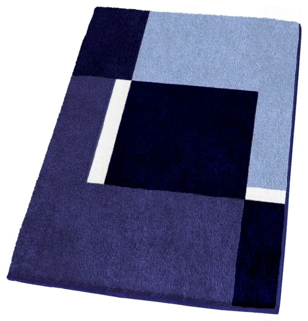 Bathroom Rugs, Navy Blue, Extra Large Contemporary Bath Mats