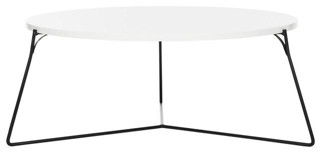Tremendous Mae Retro Mid Century Lacquer Coffee Table White Black Evergreenethics Interior Chair Design Evergreenethicsorg