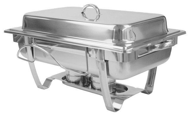 8 Quart Stainless Steel Chafer, Stackable.