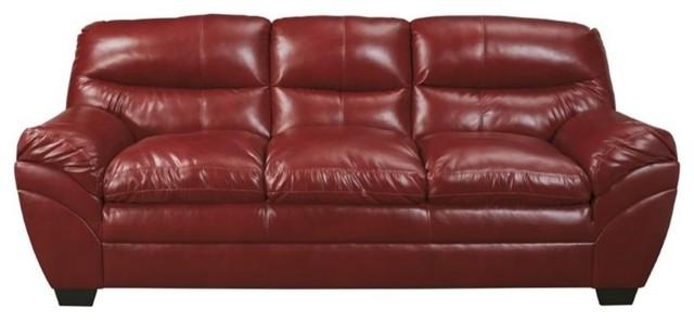 Ashley Tassler DuraBlend Leather Sofa, Crimson
