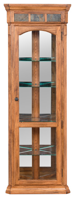 Sedona Corner Curio Cabinet - Traditional - China Cabinets And Hutches - by Sunny Designs, Inc.