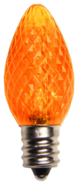 Amber Led C7 Christmas Light Bulbs - Pack Of 25.