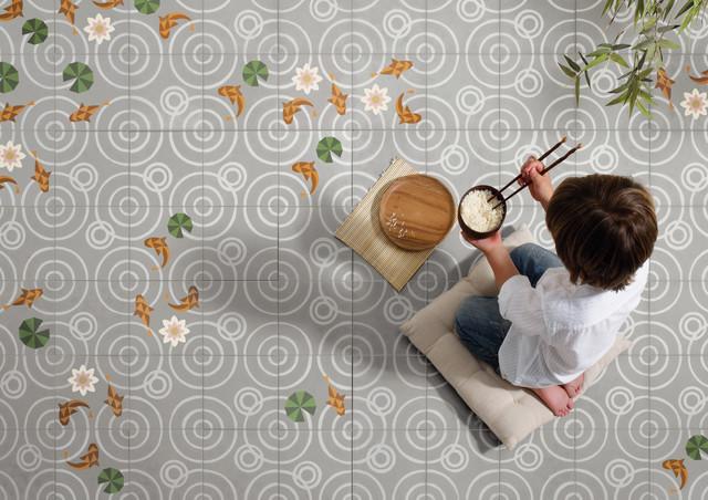 Il futuro delle piastrelle in cemento è geometrico
