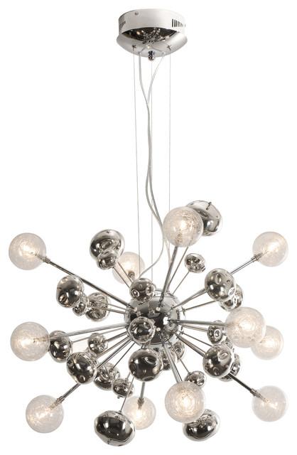 starburst polished chrome chandelier midcentury. Black Bedroom Furniture Sets. Home Design Ideas