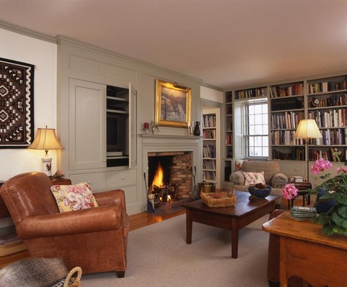 Newburyport family room traditional family room