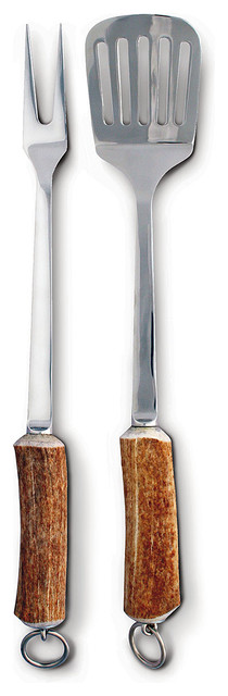 Natural Antler Handle Bbq Set.