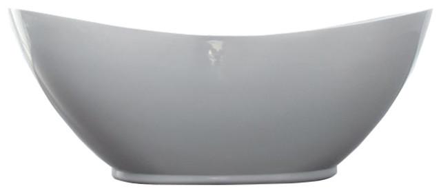 "Orlando Acrylic Modern Freestanding Soaking Bathtub 69""."