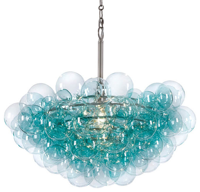 Bubbles Chandelier, Aqua