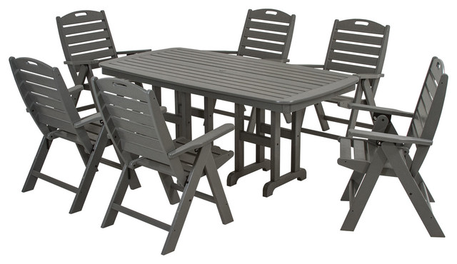 Beach Style Dining Sets: POLYWOOD Nautical 7-Piece Dining Set