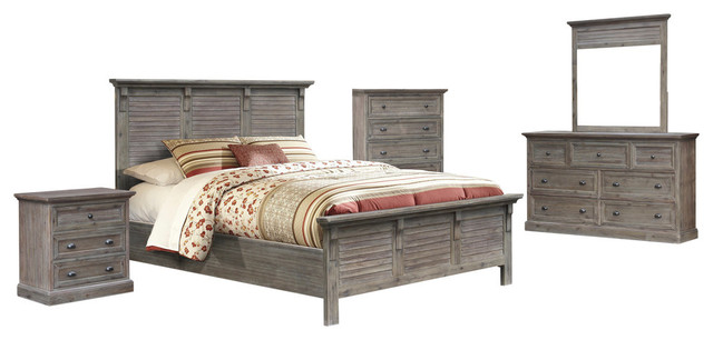 Solstice Gray 5-Piece King Bedroom Set