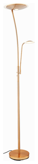 Brigitte LED Mother and Child Floor Lamp, Copper