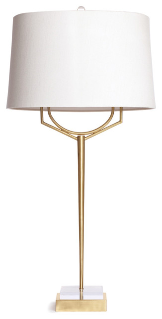 Perfect Triton Contemporary Elegant Brass Marble Table Lamp Transitional Table Lamps