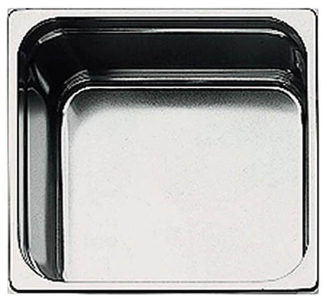 1//2 Paderno World Cuisine 12 1//2 inches by 10 1//2 inches Stainless-steel Hotel Pan depth: 4 inches 14105-10