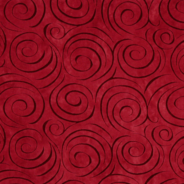 Red Abstract Swirl Microfiber Stain Resistant Upholstery Fabric By The Yard Contemporary Palazzo Fabrics