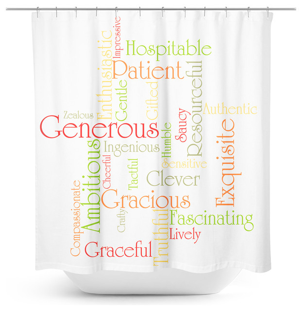 Sylvia Coomes Positive Words Autumn Tones Shower Curtain View In Your Room Houzz