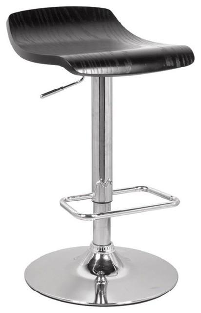 Acme Furniture Holt Adjustable Stool Black And Chrome