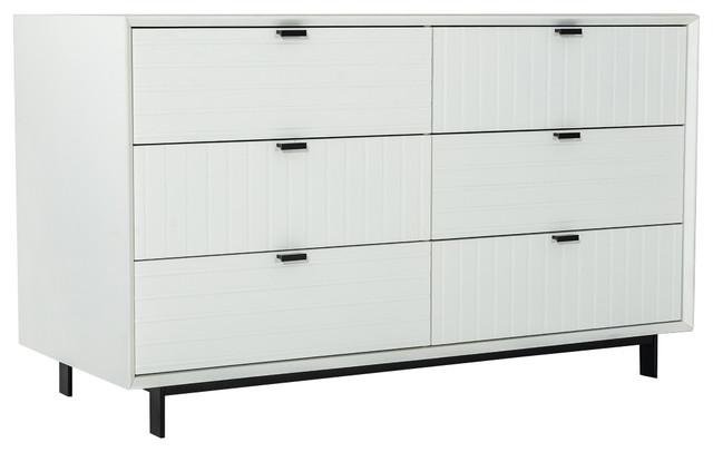 . Nova Domus Valencia Contemporary White Dresser