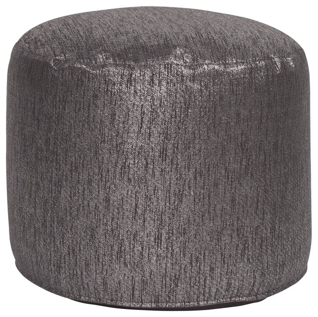 Shimmer Tall Pouf Ottoman Contemporary Floor Pillows And Poufs Amazing Tall Pouf Ottoman