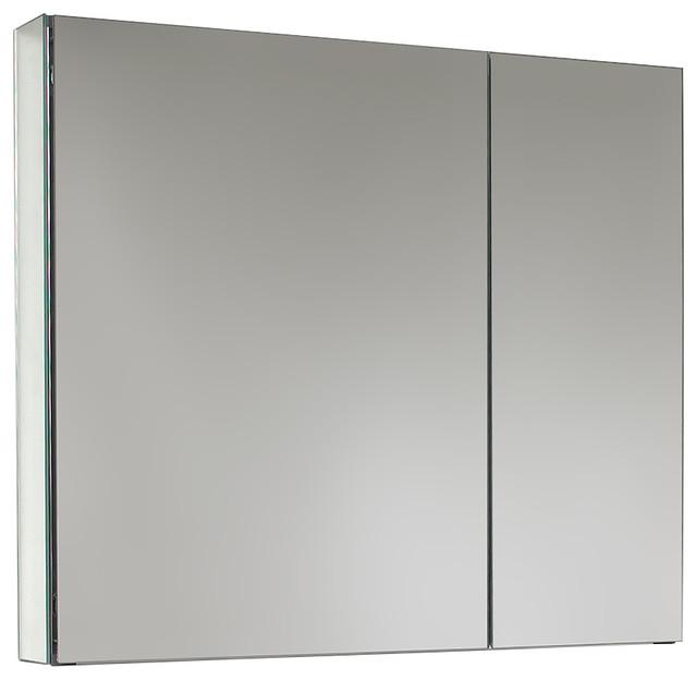 "Fresca 30"" Wide Bathroom Medicine Cabinet With Mirrors"