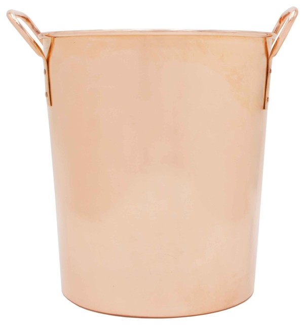 Extra Thick Pure Copper Ice Bucket Or Wine Chiller With Handles Uncoated