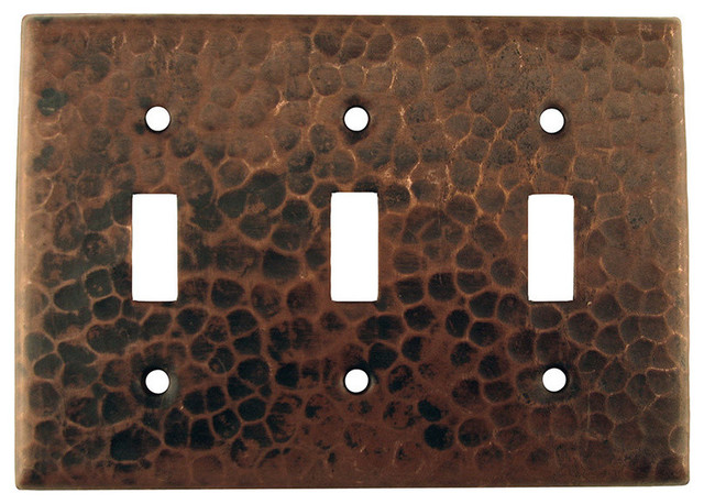 Triple Switch Plate Cover Entrancing St3 Copper Switchplate Triple Toggle Switch Cover  Traditional Inspiration Design