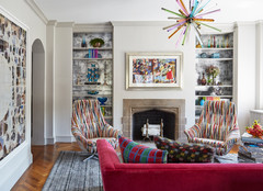 Art Deco Condo Infused With Color, Art and Whimsical Decor