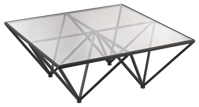 dimond home geometric coffee table - transitional - coffee tables