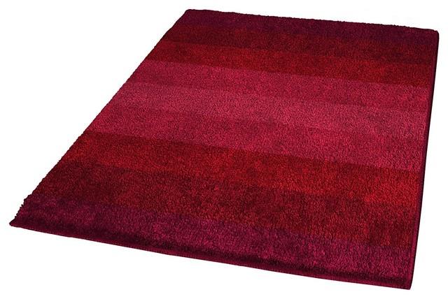 Wine Red Non Slip Washable Bathroom Rug Palace Contemporary Bath Mats By Vita Futura