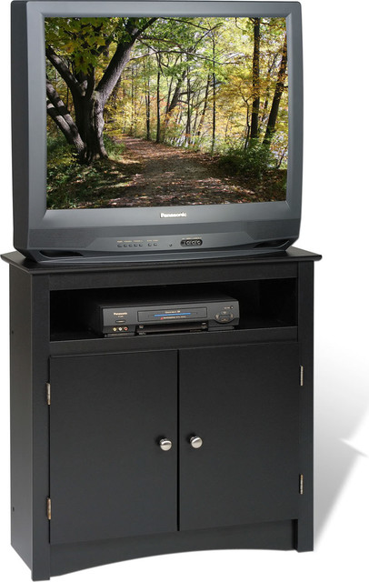 Tall Corner TV Cabinet, Black transitional-entertainment-centers-and-tv- - Prepac Furniture Tall Corner TV Cabinet - Entertainment Centers
