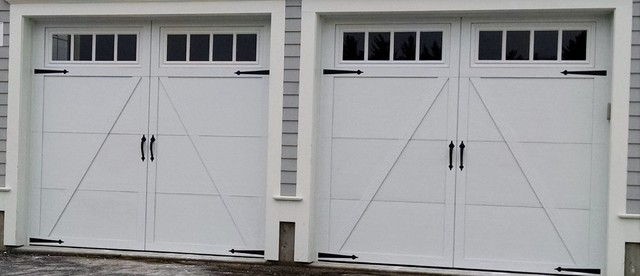 White carriage house garage door with square windows traditional white carriage house garage door with square windows traditional garage publicscrutiny Image collections
