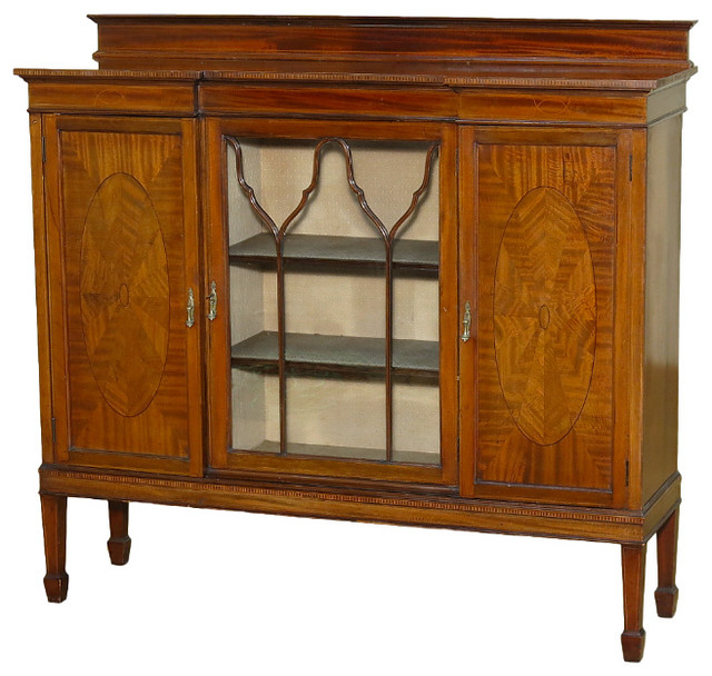 Shop Houzz | Antiques Consigned Vintage Mahogany Curio ...