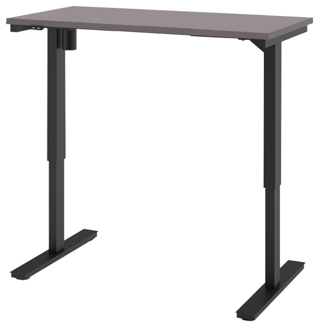 Bestar Electric Height Adjustable Work Table In Slate