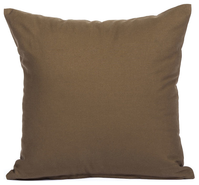Solid Brown Accent, Throw Pillow Cover - Contemporary - Decorative Pillows - by Silver Fern Decor