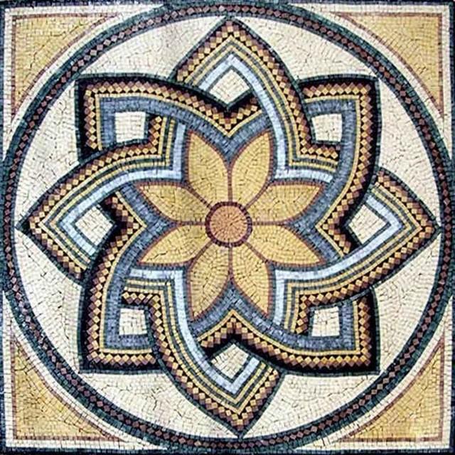Roman Art Flower Mosaic Octavia Mediterranean